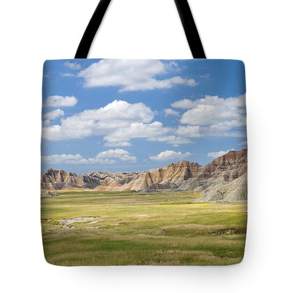 Colorful Landscape In Badlands National Tote Bag by Philippe Widling