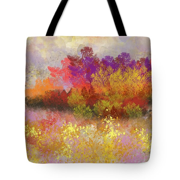 Colorful Landscape Tote Bag by Jessica Wright