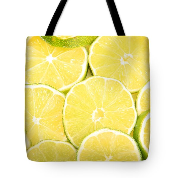 Colorful Limes Tote Bag by James BO  Insogna