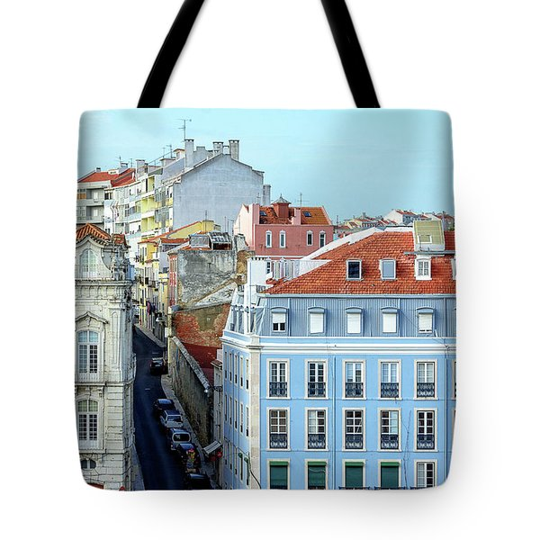Tote Bag featuring the photograph Colorful Lisbon by Marion McCristall