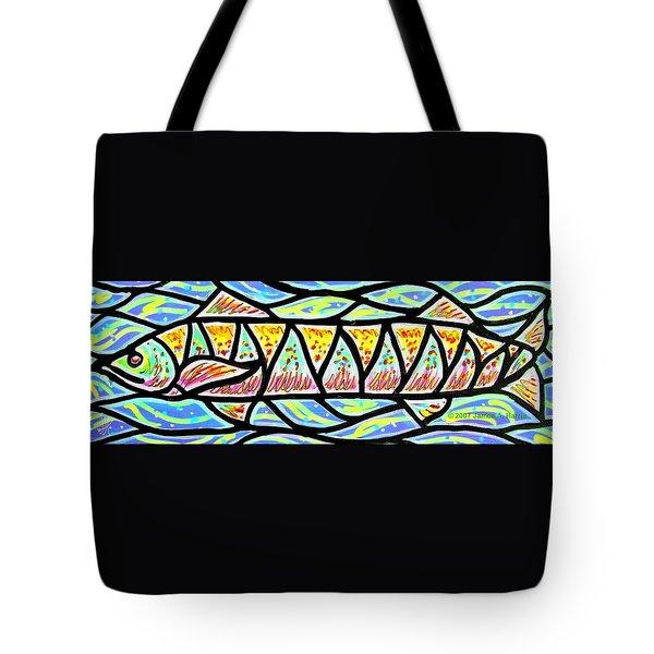 Colorful Longfish Tote Bag by Jim Harris