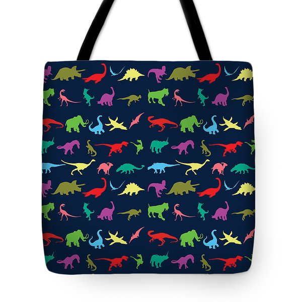 Colorful Mini Dinosaur Tote Bag by Naviblue
