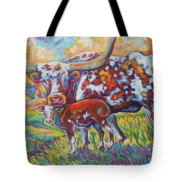 Tote Bag featuring the painting Colorful Momma by Jenn Cunningham