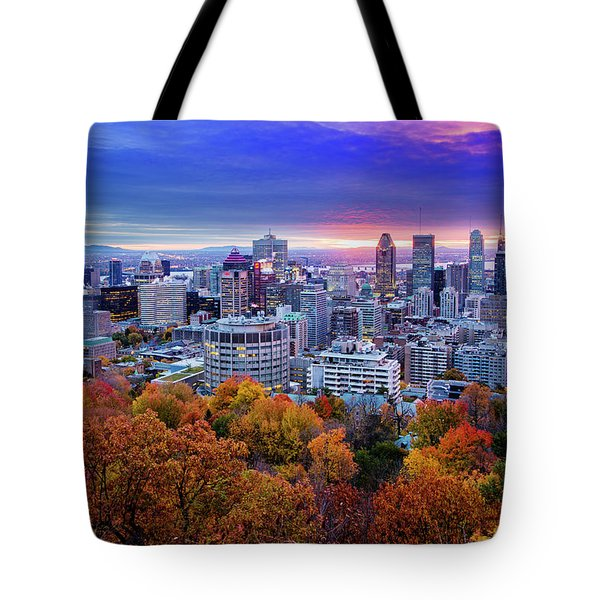 Tote Bag featuring the photograph Colorful Montreal  by Mircea Costina Photography
