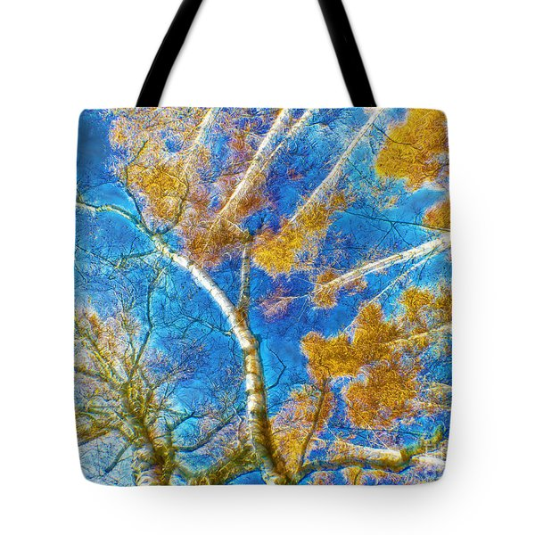 Colorful Mystical Forest Tote Bag by Odon Czintos