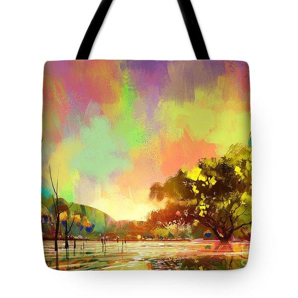 Colorful Natural Tote Bag
