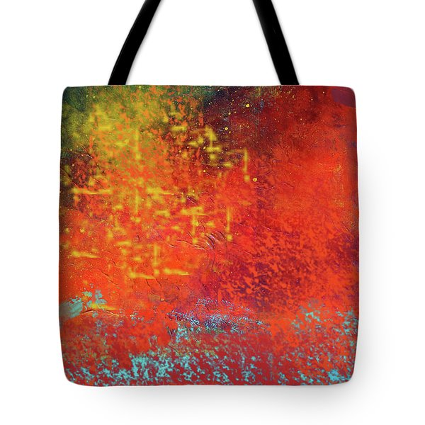 Tote Bag featuring the painting Colorful Night by Nancy Merkle
