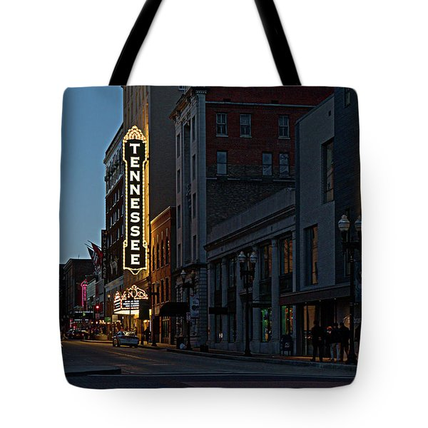 Colorful Night On Gay Street Tote Bag