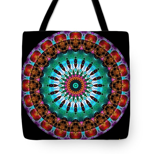 Colorful No. 9 Mandala Tote Bag by Joy McKenzie