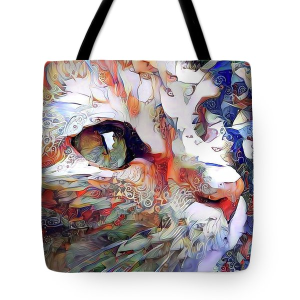 Colorful Orange Cat Art Tote Bag