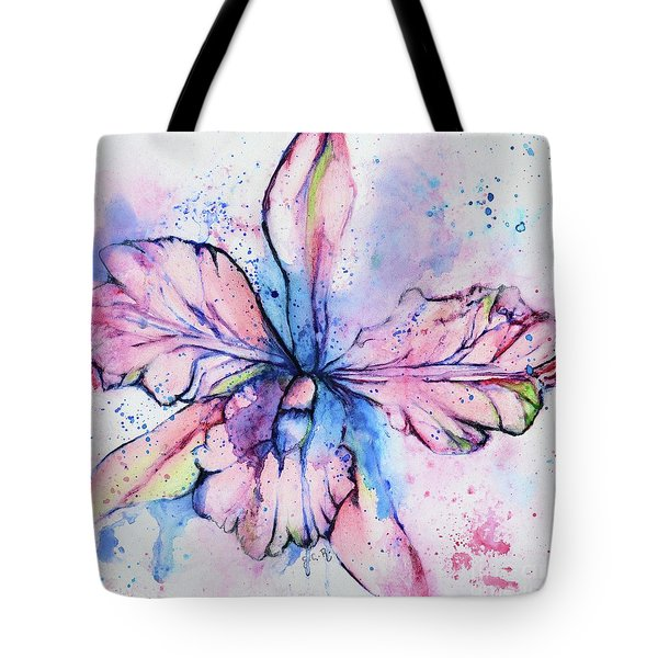 Colorful Orchid Flower Tote Bag