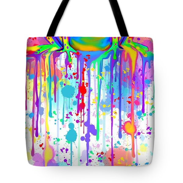 Colorful Painted Frog  Tote Bag