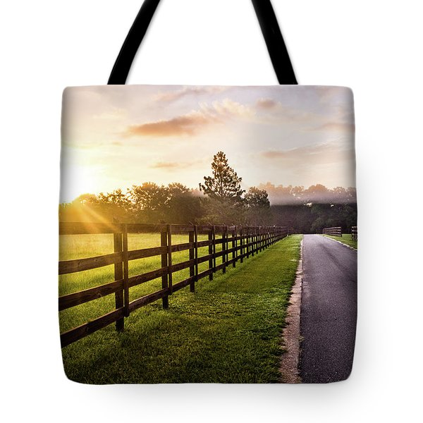 Tote Bag featuring the photograph Colorful Palette At Sunrise by Shelby Young