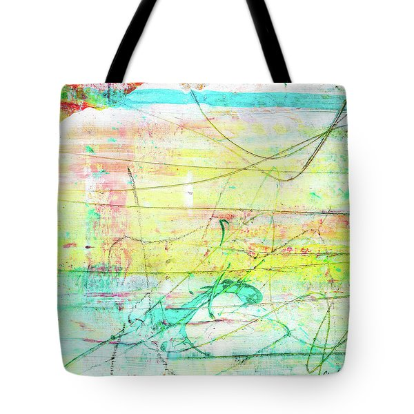 Colorful Pastel Art - Mixed Media Abstract Painting Tote Bag