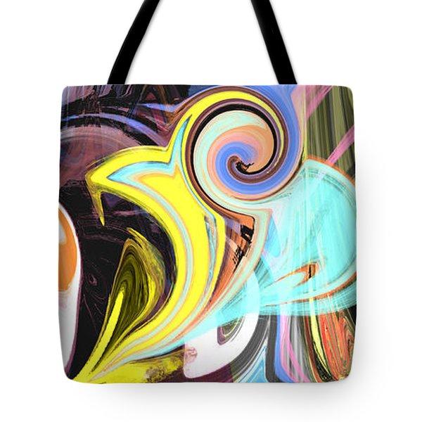 Colorful Pastel Swirls Tote Bag