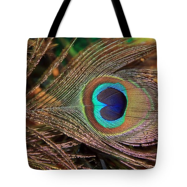 Colorful Peacock Feather Tote Bag