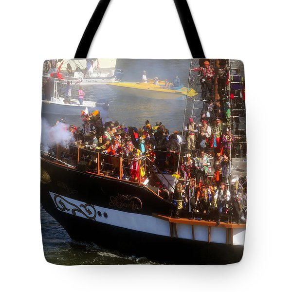 Colorful Pirates Tote Bag by David Lee Thompson