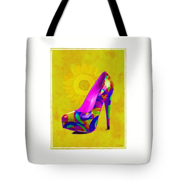Colorful Pump Tote Bag by Jann Paxton