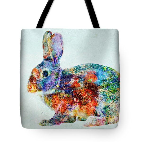 Colorful Rabbit Art Tote Bag