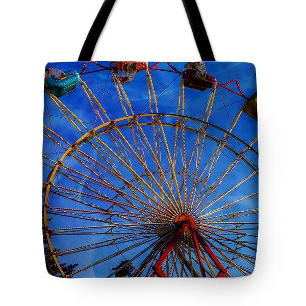 Colorful Ride Tote Bag by Sherman Perry