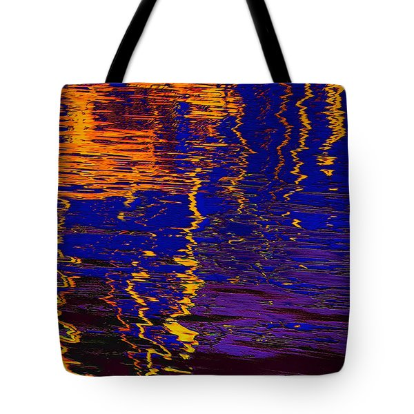 Colorful Ripple Effect Tote Bag by Danuta Bennett