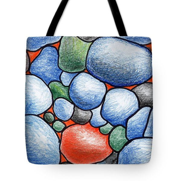 Colorful Rock Abstract Tote Bag by Nancy Mueller