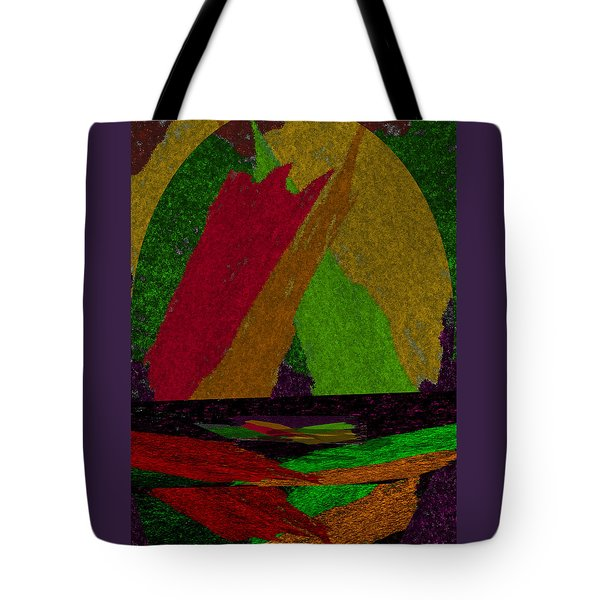 Tote Bag featuring the drawing Colorful Room by Michelle Audas