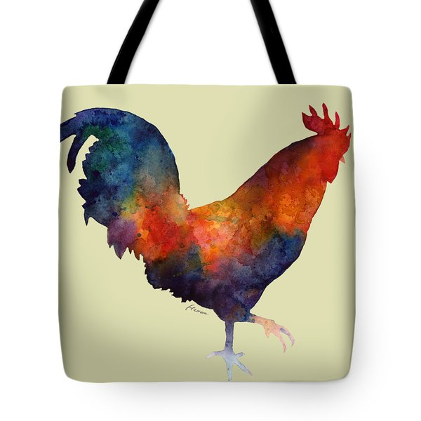 Colorful Rooster Tote Bag