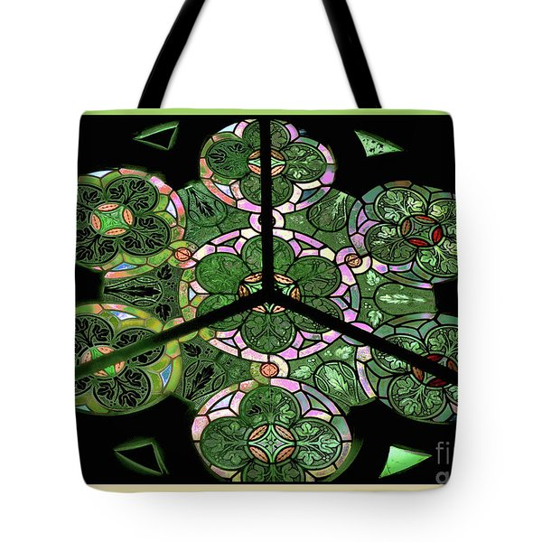 Colorful Rosette In Pink-green Tote Bag