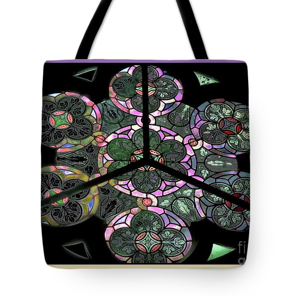 Colorful Rosette In Pink-lila Tote Bag