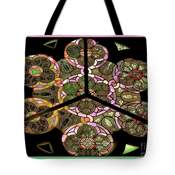 Colorful Rosette In Pink-turquoise Tote Bag