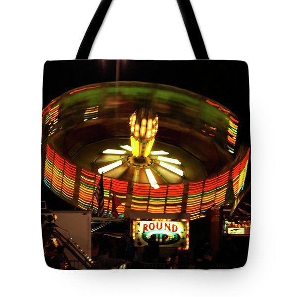 Colorful Round Up Wheel Tote Bag