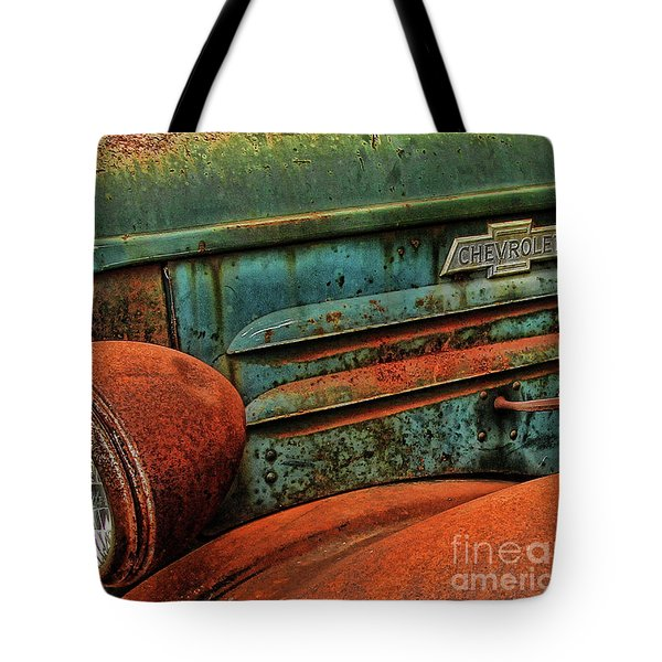 Colorful Rust Tote Bag