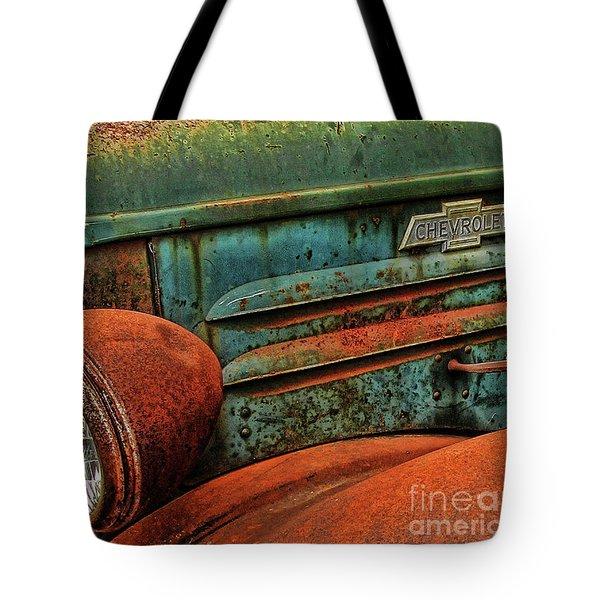 Colorful Rust Tote Bag