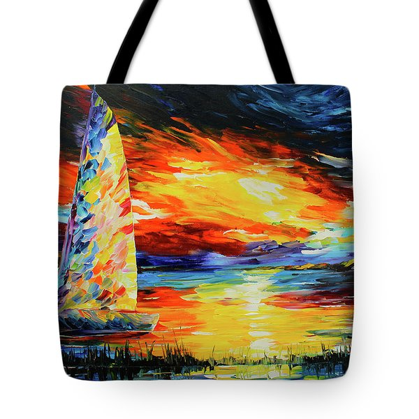 Colorful Sail Tote Bag