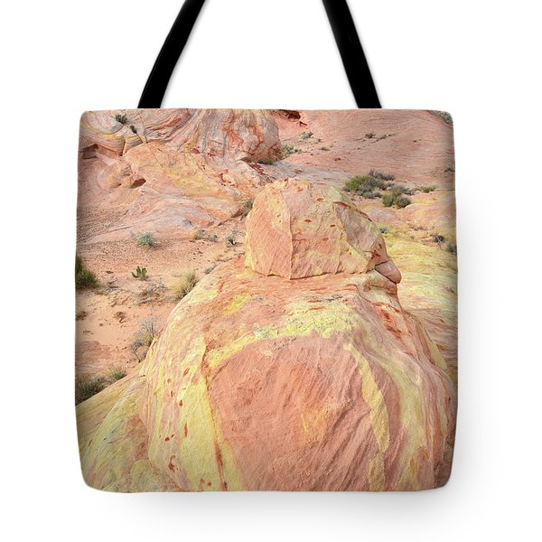 Tote Bag featuring the photograph Colorful Sandstone In North Valley Of Fire by Ray Mathis
