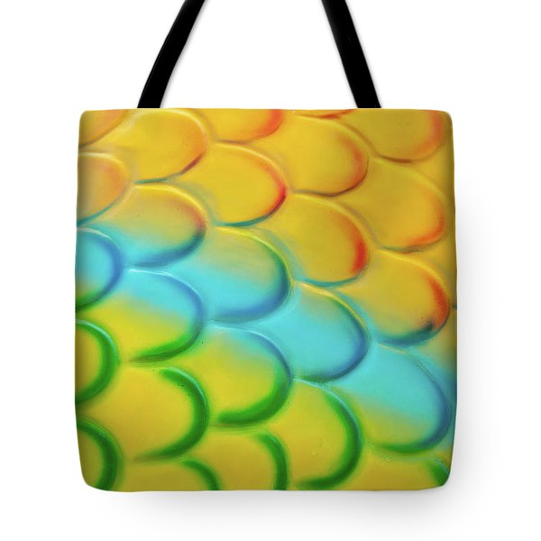 Colorful Scales Tote Bag by Adam Romanowicz