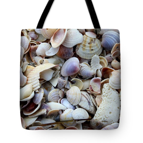 Colorful Shells Tote Bag by Jeanne Forsythe