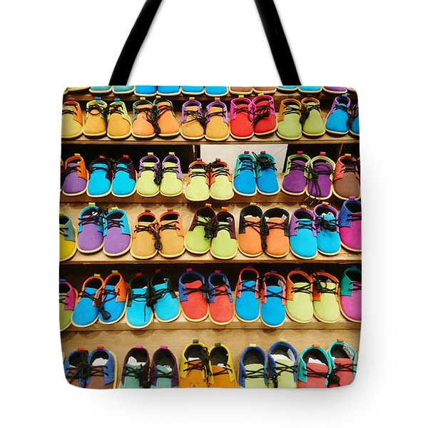 Colorful Shoes Tote Bag