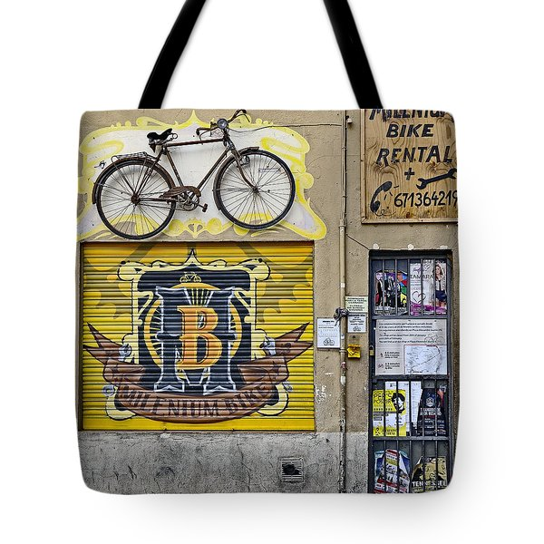 Colorful Signage In Palma Majorca Spain Tote Bag by Richard Rosenshein
