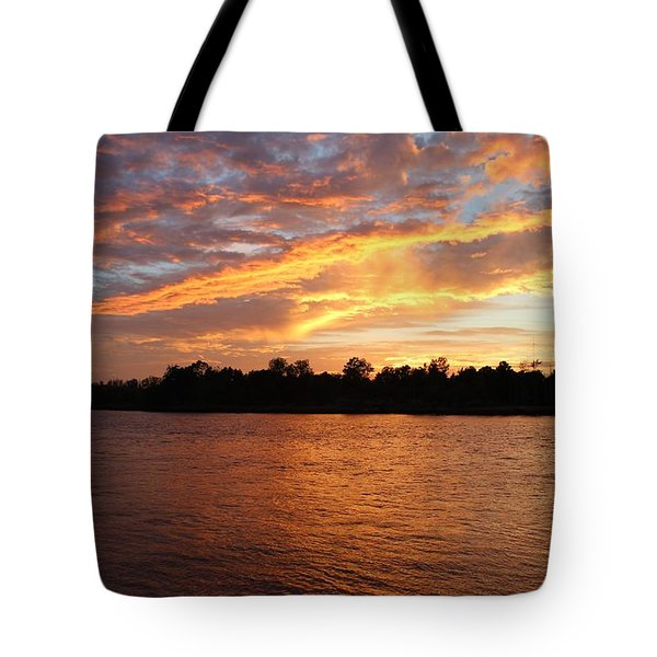 Tote Bag featuring the photograph Colorful Sky At Sunset by Cynthia Guinn