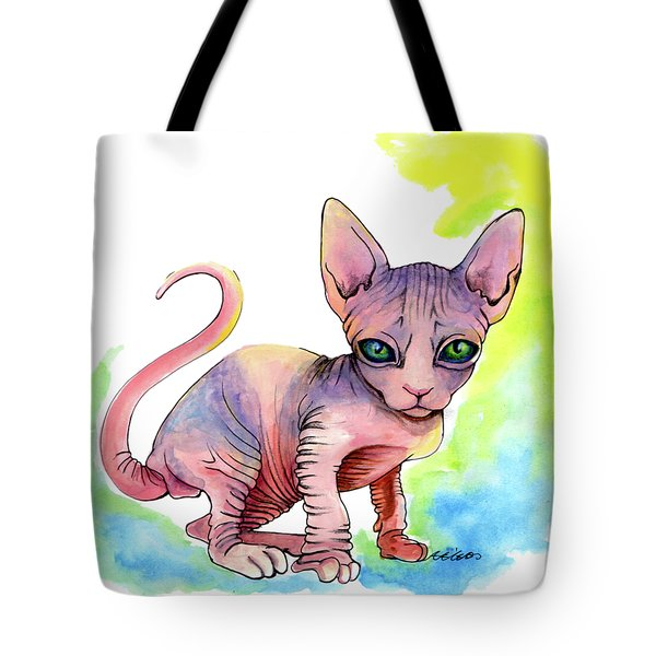 Colorful Sphynx Tote Bag