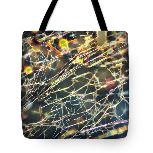 Rainbow Network Tote Bag