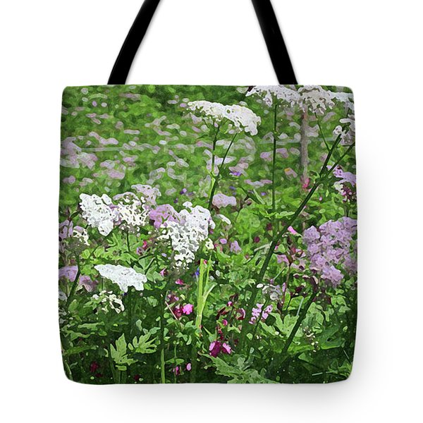 Colorful Spring Flowers In Switzerland Meadow Tote Bag