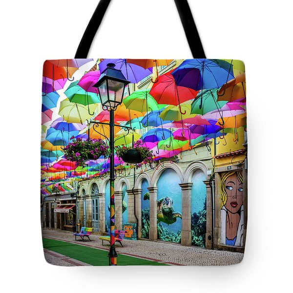 Colorful Street Tote Bag by Marco Oliveira