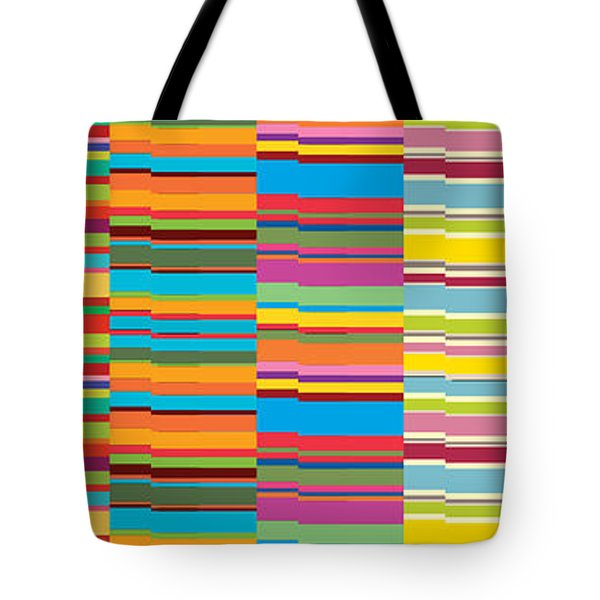 Colorful Stripes Tote Bag by Ramneek Narang