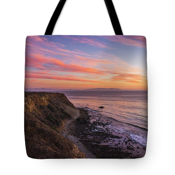 Colorful Sunset At Golden Cove Tote Bag