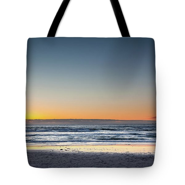 Colorful Sunset Over A Desserted Beach Tote Bag