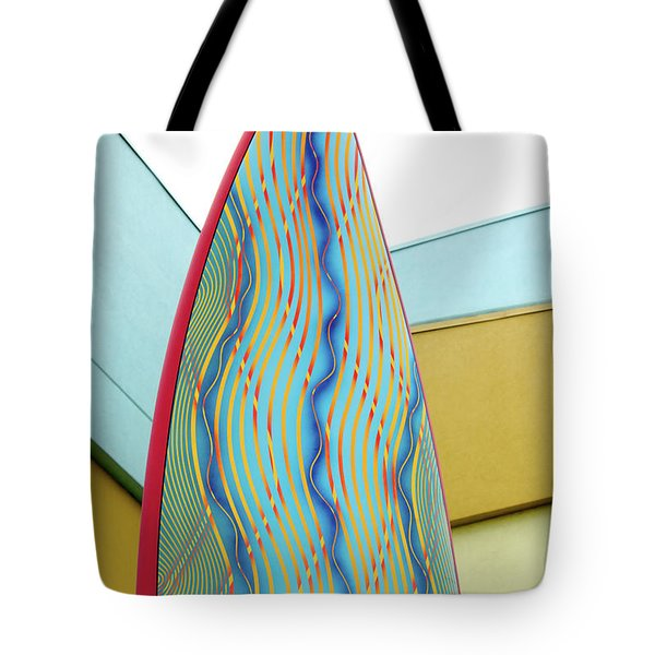 Colorful Surfboard Tote Bag