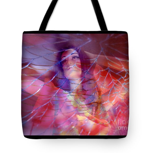 colorful surreal woman mannequin photography - Desdemona Tote Bag